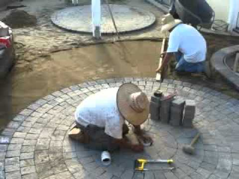 Pavers - circle kits add interest to backyard patios