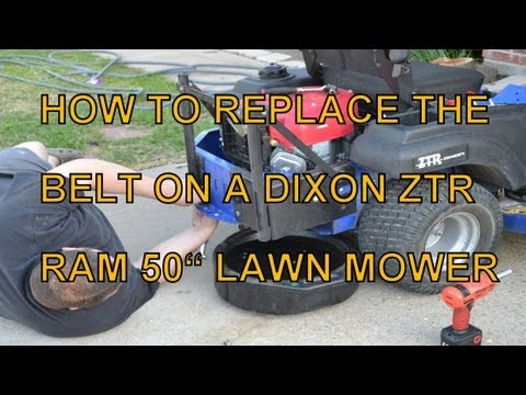 HOW TO REPLACE THE MULE BELT ON A DIXON RAM 50 ZERO TURN MOWER (OTHER MODELS SIMILAR)