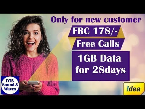 Idea New FRC 178 L/STD/Rom Call Unlimited+100SMS/day+1GB Data for 28days