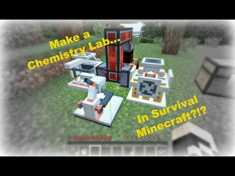Minecraft Chemistry 2: How to Use / Chemistry Lab in Survival