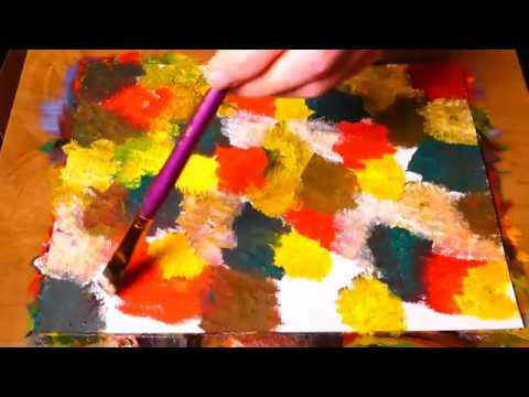 Learn To Paint Easy Liquid Abstract Art With Oil Painting In a Few Minutes