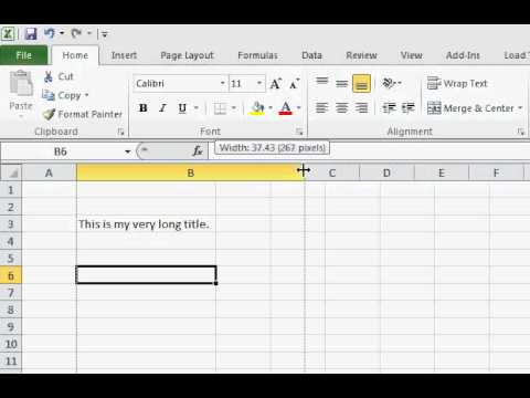 Resize Columns and Rows in Excel