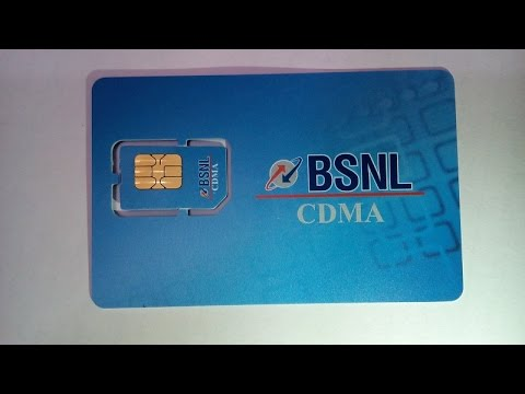 BSNL CDMA prepaid simcard for internet/calls