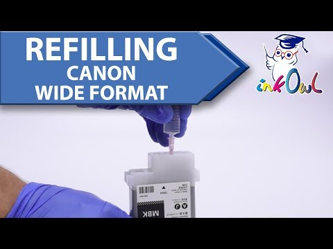How to Refill Canon PFI iPF Large Format Ink Cartridges