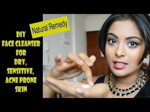 DIY FACE CLEANSER: For dry, sensitive, irritated acne prone skin