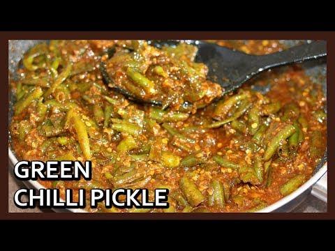 Instant Green Chilli Pickle Recipe | Mirch ka Khatta Meetha Achar | Healthy Kadai