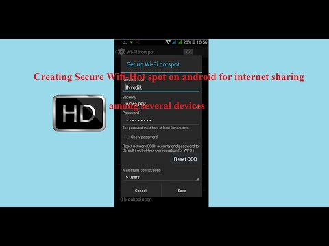 Creating secure Wi-Fi hotspot on Android mobile to share internet