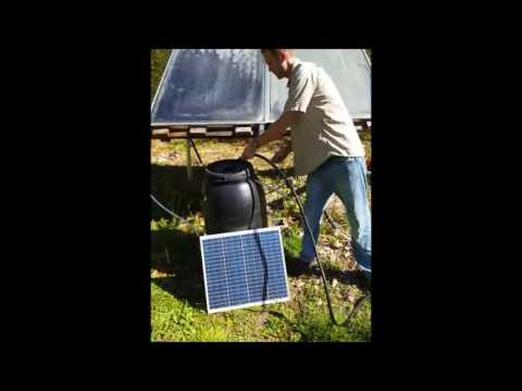 Solar outdoor shower