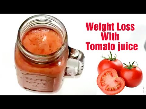 Weight Loss With Tomato juice/ Tomato juice recipe/Weight loss drink/5 to 6 kg in 1 month with drink