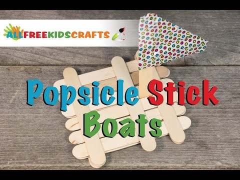 How To Make: Popsicle Stick Boat