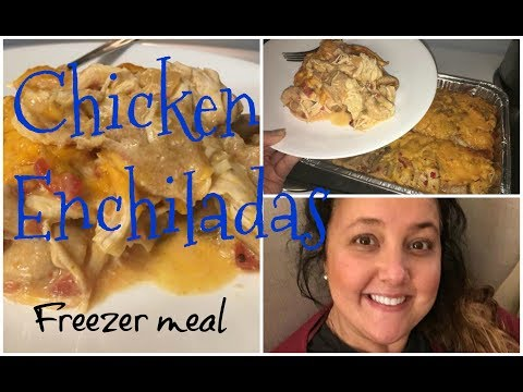 COOK WITH ME CHICKEN ENCHILADAS  EASY FREEZER MEAL