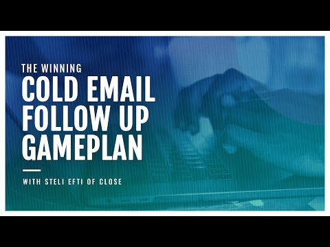 The winning cold email follow up game plan