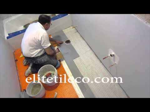 Part 7 How to install wood look plank tile on Schluter Ditra: Installing the tile