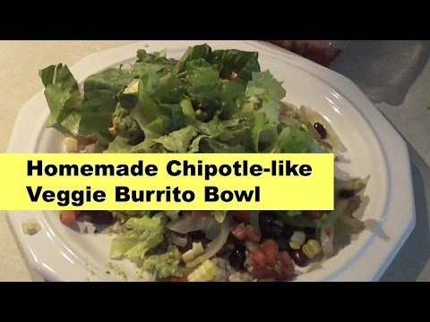 DIY Homemade Chipotle-like Veggie Burrito Bowl