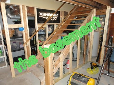 howto build a room in basement shown step by step backwards