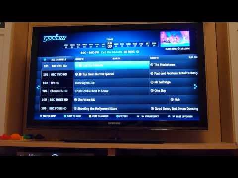 Using the YouView programme guide (EPG) to watch recorded programmes or via a catch up service