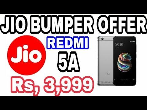 जियो बंपर ऑफर | Redmi 5A Rs,3,999 | With Reliance Jio