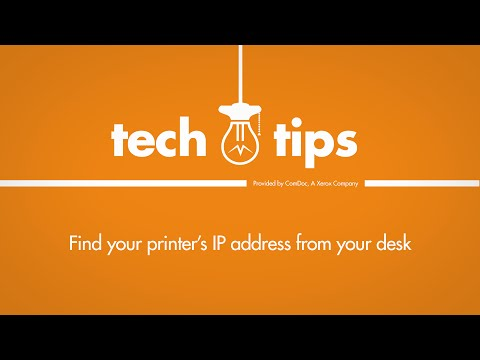 Tech Tips | Find Your Printer's IP Address From Your PC