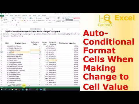 Conditional Format Cells Automatically When You Change Cell Content