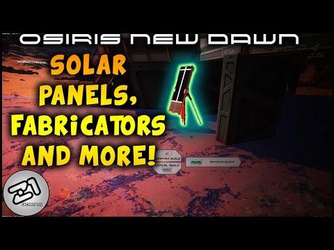 Osiris New Dawn Solar Panels, Fabricator and Chemistry Table ! Z1 Gaming