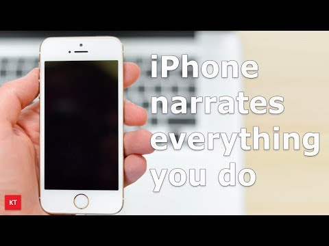 iPhone narrates everything you do on your iPhone