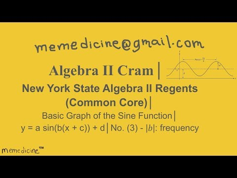 Geometry  Cram│ New York Regents Trigonometry│No.(3) Sine Graph – frequency