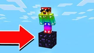 SURVIVNG IN MINECRAFT WITH ONLY 1 OBSIDIAN!?
