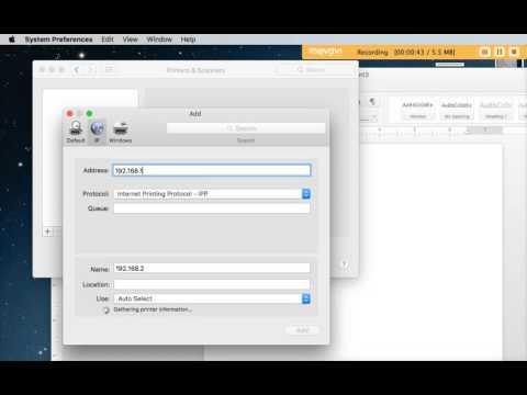Calvaryslz - add Ricoh Printer to Mac