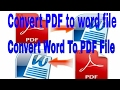 How to convert Word file to pdf file on Android phone