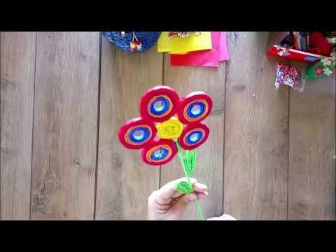 DIY How to make a decorative eye flower tutorial