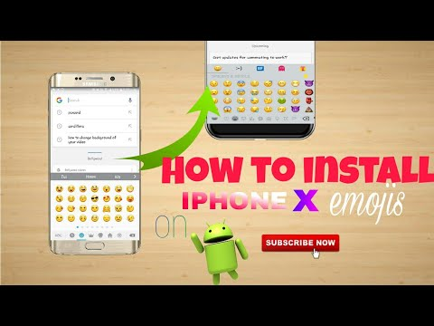 How to get iphone emojis On android||