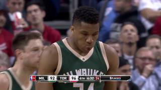 Giannis Antetokounmpo and DeMar DeRozan Duel it out in Toronto!   April 18, 2017