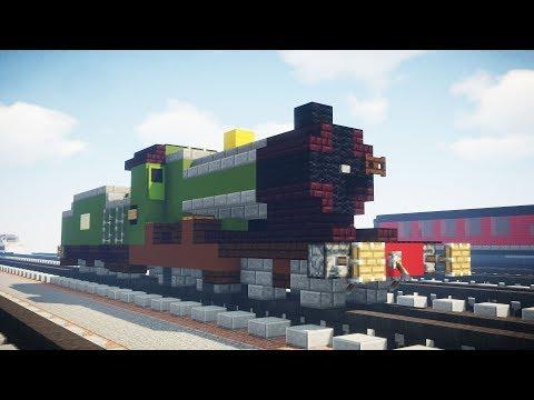 Minecraft GWR City of Truro Steam Locomotive Tutorial