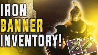 Destiny Iron Banner Inventory! God Roll Clever Dragon & Silvered Dread! Tier 12 Armor 11-8-2016