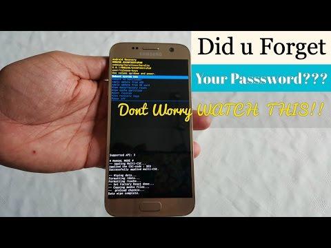 Samsung Galaxy S7/S7 Edge BYPASS LOCKSCREEN PIN & FINGER PRINT SCANNER