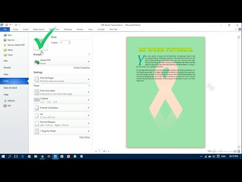 Print Background Color & Image in Word