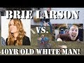 BRIE LARSON GETS OWNED BY 40YR OLD WHITE MAN CAPTAIN MARVEL TANKS