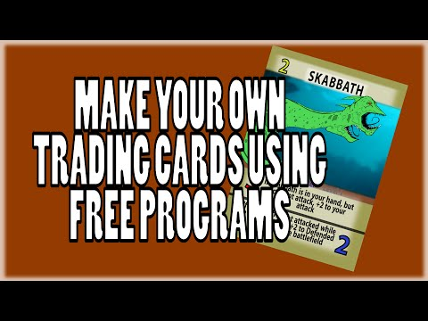 How to Make Your Own Trading Card with FREE Programs