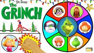 THE NEW GRINCH MOVIE Spinning Wheel Game w/ Surprise Toys from 2018 GRINCH