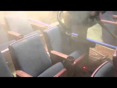 Cleaning cinema seats the hard correct way!!