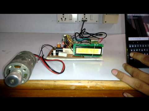 Wireless Speed control of DC motor using microcontroller and android application