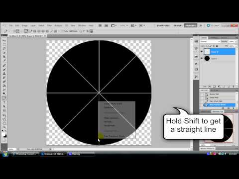Photoshop Tutorial: Cutting a circle into quarters