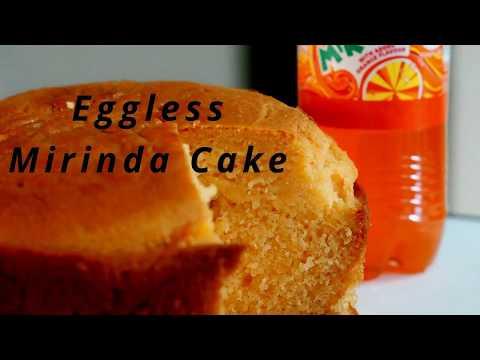 Eggless Mirinda Cake - Eggless Orange Cake in Hindi