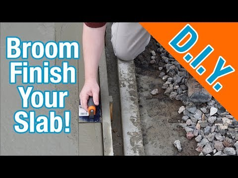 How To Finish a Concrete Slab For A Shed: How To Build A Shed ep 5