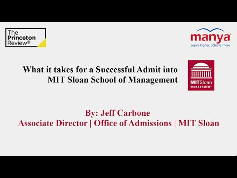 What it takes for a Successful Admit into MIT Sloan School of Management