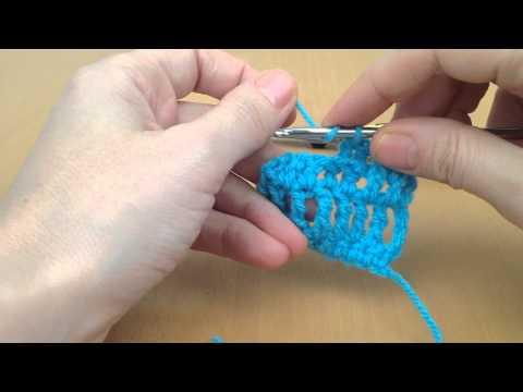 Front Post Treble and Back Post Treble Crochet Stitch