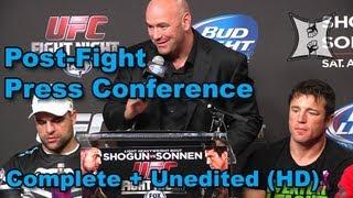 UFC on FOX Sports 1: Shogun vs Sonnen Post-Fight Press Conference (complete + unedited)