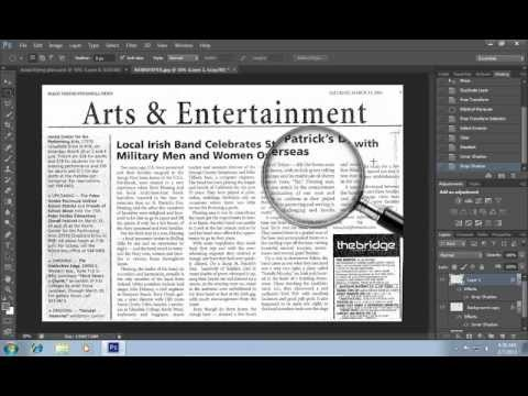How to Make a Magnifying Glass Effect in Photoshop CS6