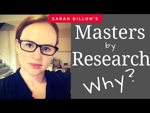 Why do a Masters degree by research?