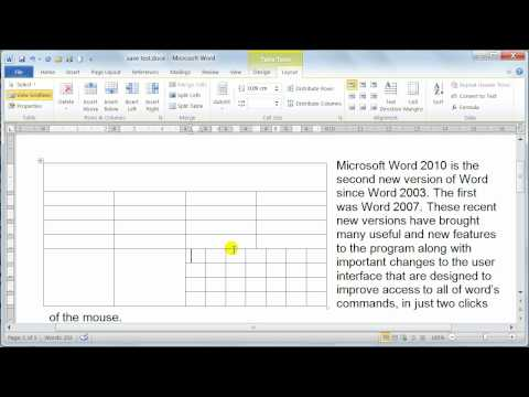 Microsoft Word 2010 formatting Tables - Table properties - Tutorial 20